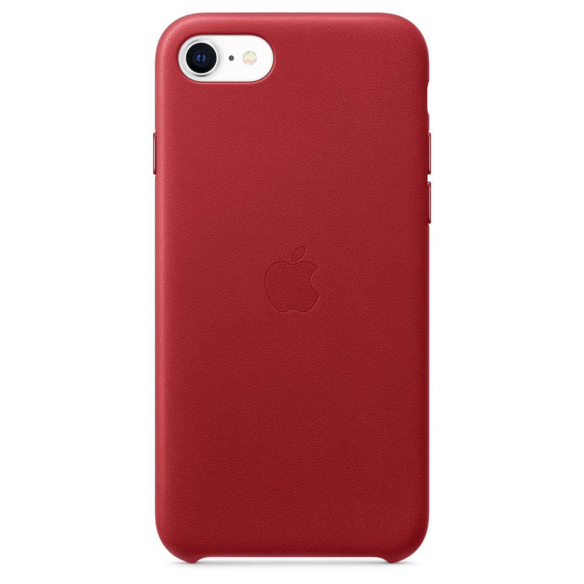 Étui en cuir pour iPhone SE - (PRODUCT)RED