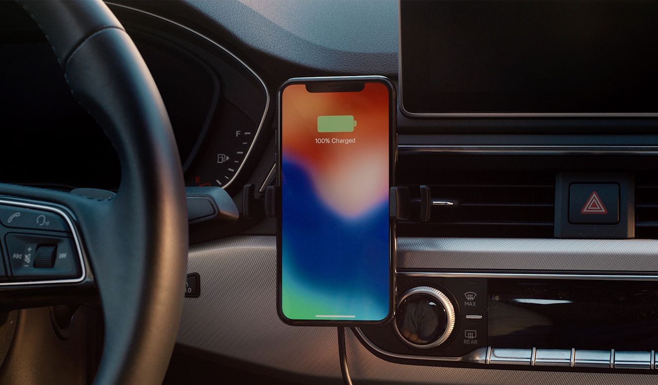 the best attitude a62ce 1b45c mophie wireless charging vent mount