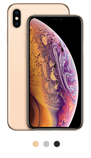 iPhone XS available in gold, silver and space gray