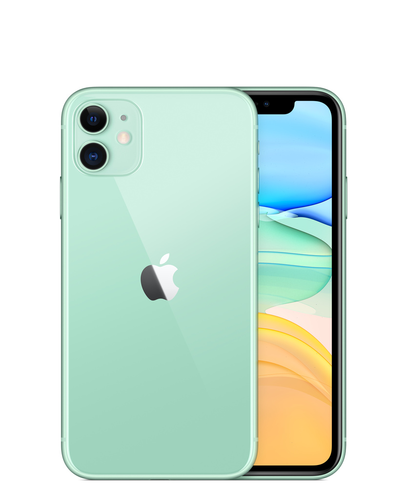 Typo - Recycled Phone Case iPhone 11 - Mint leaf