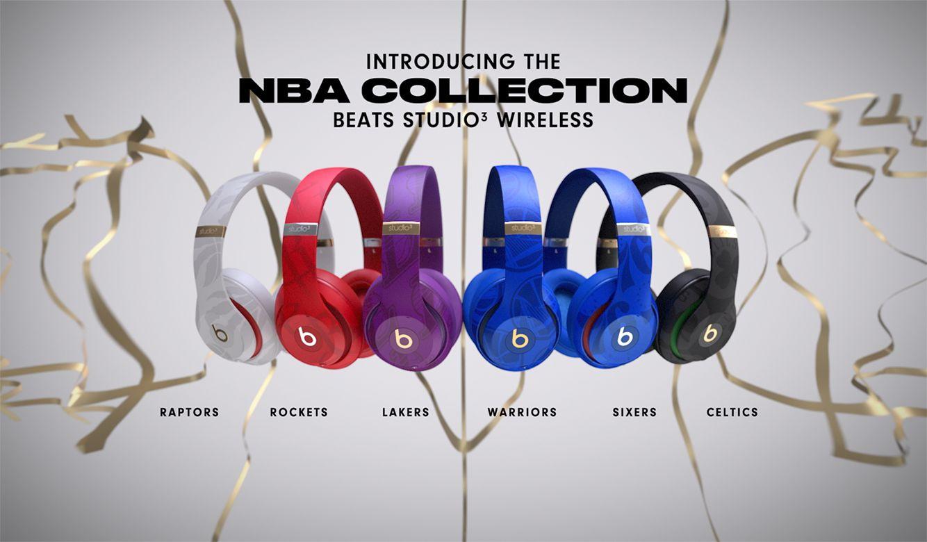 Beats Studio3 Wireless Headphones Nba Collection Rockets Red Apple