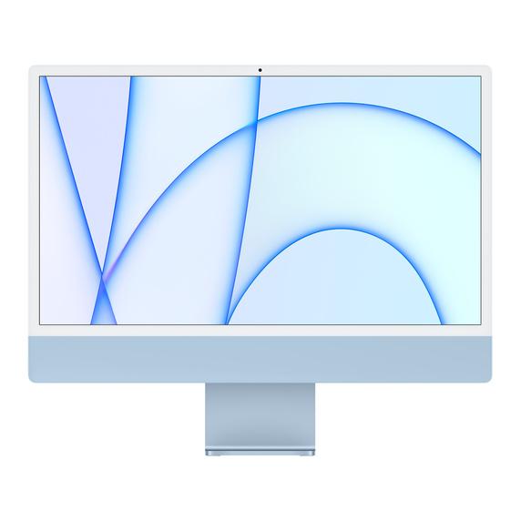 Refurbished 24-inch iMac Apple M1 Chip with 8‑Core CPU and 8‑Core GPU, Gigabit Ethernet - Blue