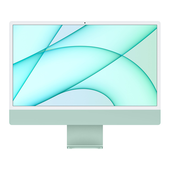 Refurbished 24-inch iMac Apple M1 Chip with 8‑Core CPU and 8‑Core GPU, Gigabit Ethernet - Green