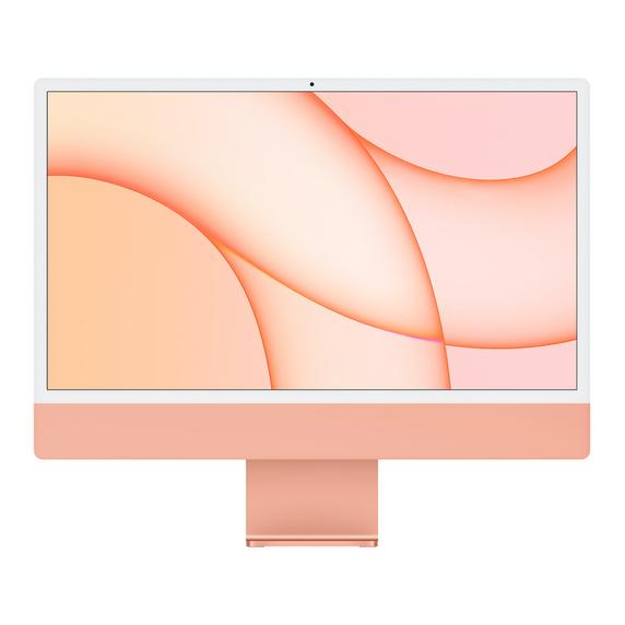 Refurbished 24-inch iMac Apple M1 Chip with 8‑Core CPU and 8‑Core GPU, Gigabit Ethernet - Orange