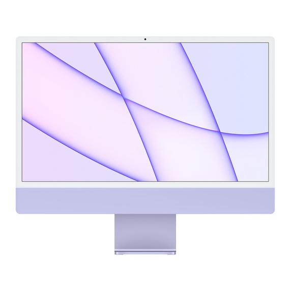 Refurbished 24-inch iMac Apple M1 Chip with 8‑Core CPU and 8‑Core GPU, Gigabit Ethernet - Purple