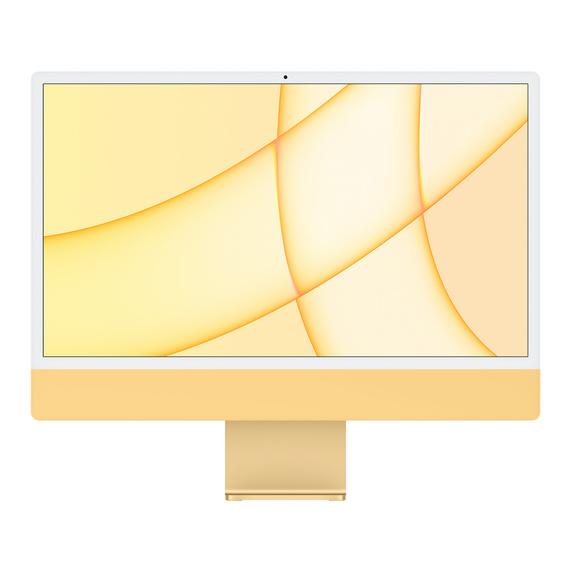 Refurbished 24-inch iMac Apple M1 Chip with 8‑Core CPU and 8‑Core GPU, Gigabit Ethernet - Yellow