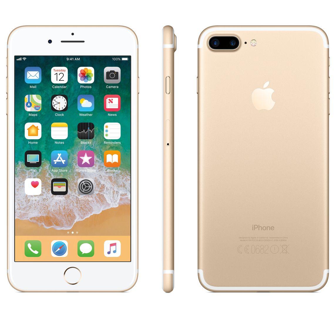 Refurbished iPhone 7 Plus 128GB - Gold (Unlocked)