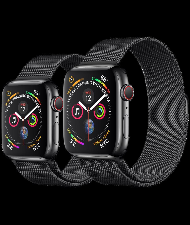 Apple Watch Series 4 Gps Cellular 40mm Space Black Stainless Steel Case With Space Black Milanese Loop