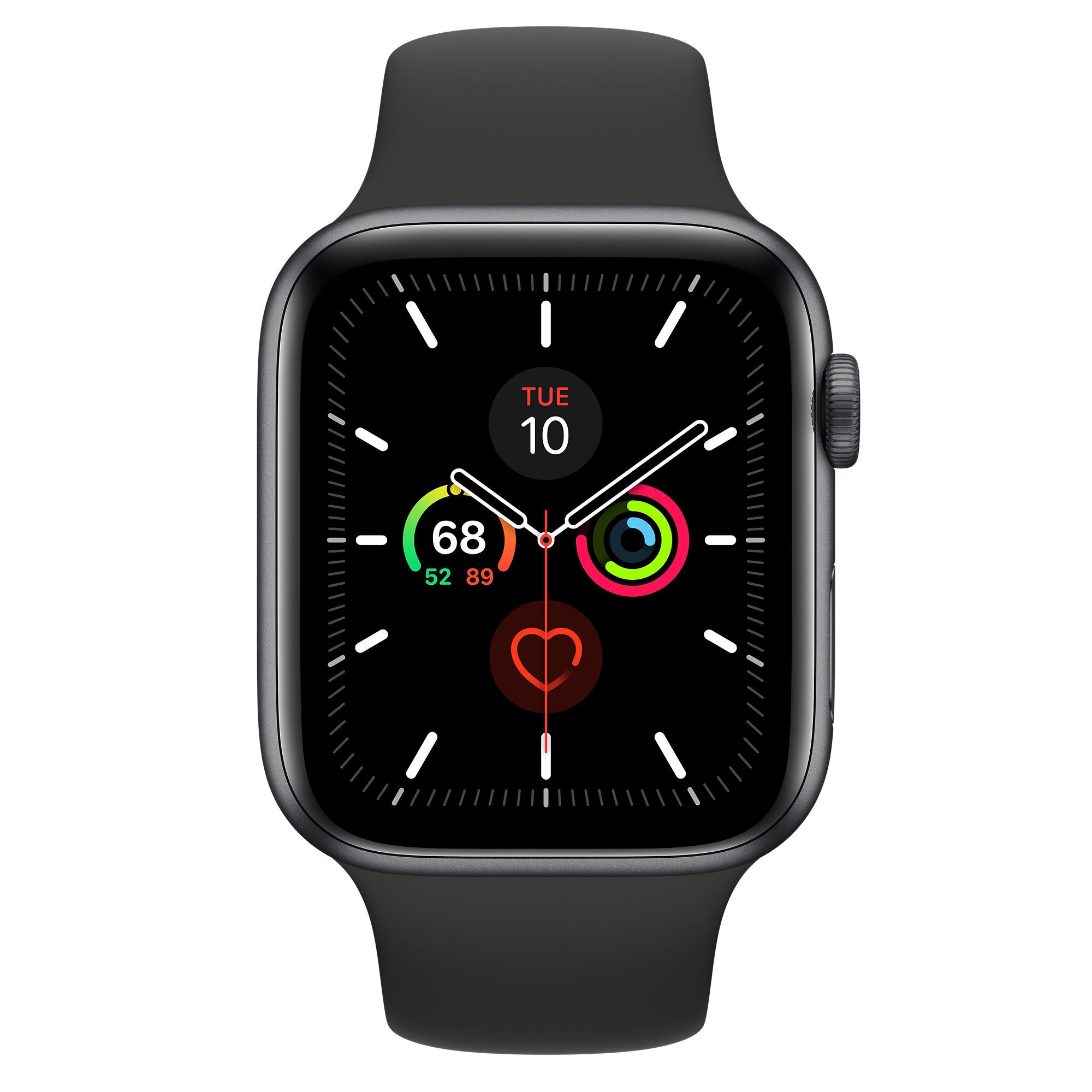 Apple Watch Series 5(GPSモデル)- 44mmスペースグレイアルミニウムケースとブラックスポーツバンド [整備済製品] -  Apple(日本)