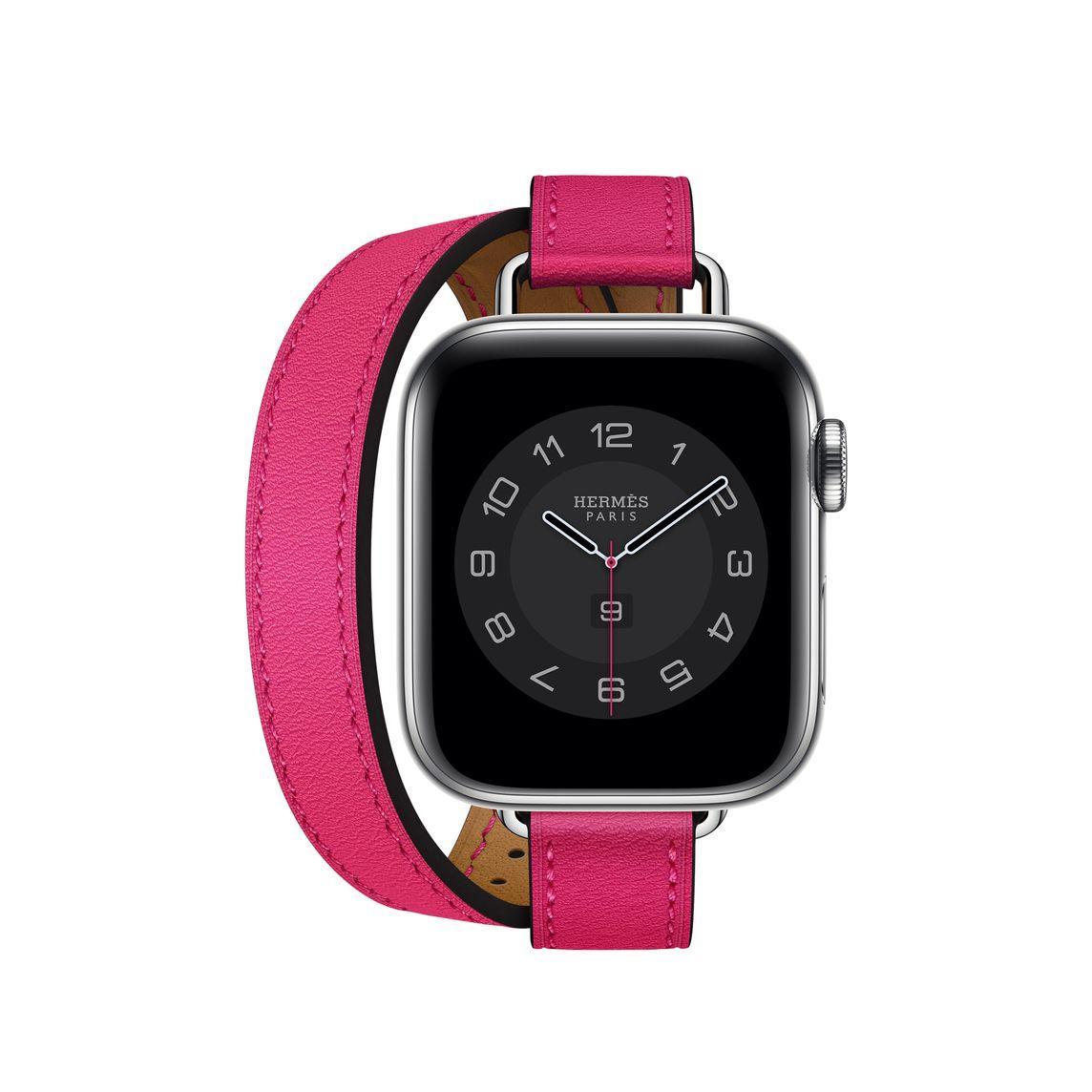 Apple Watch Hermès ヴォー・スウィフト アトラージュ・ドゥブルトゥールレザーストラップ