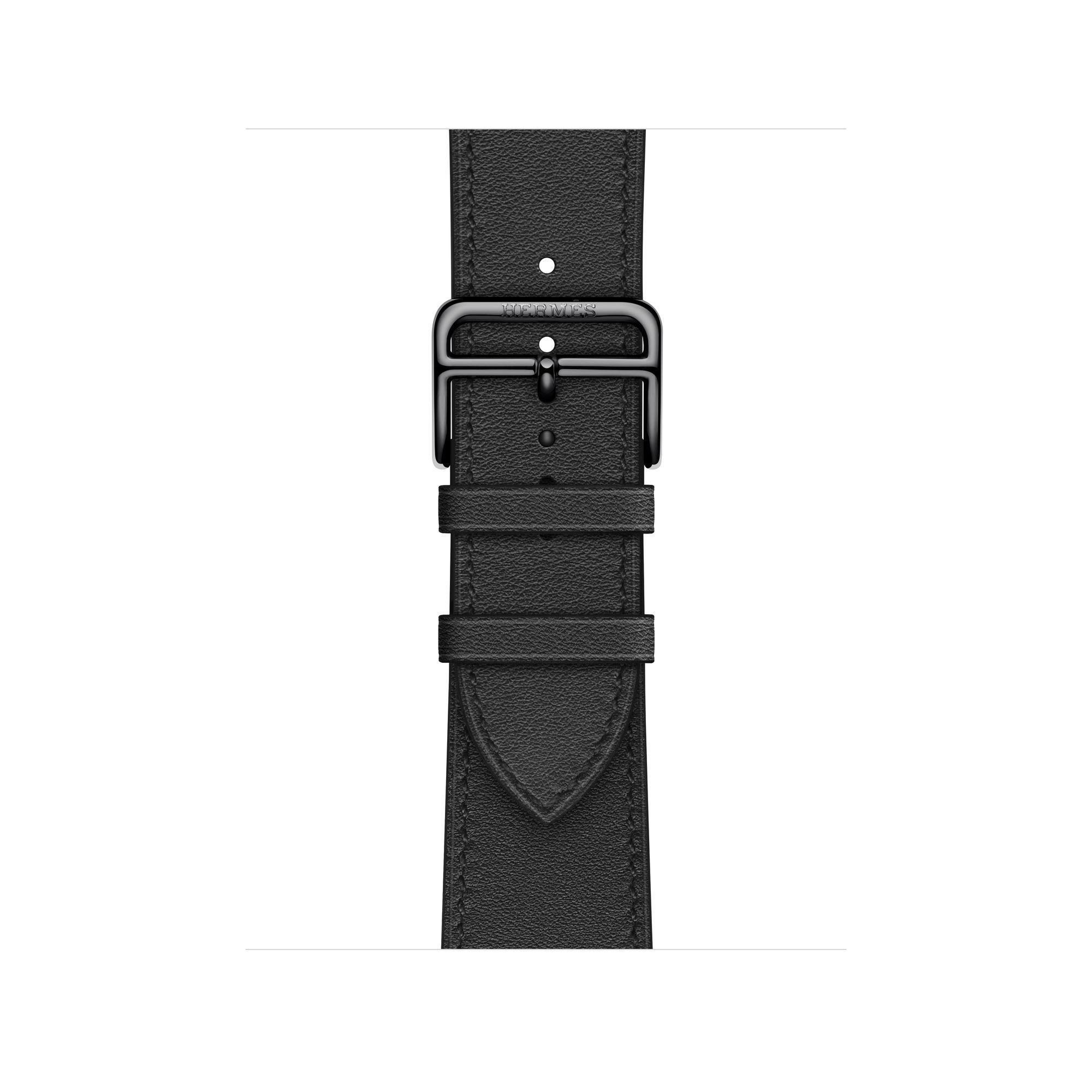 Apple Watch HERMES ヴォー・スウィフト(黒)レザーストラップ