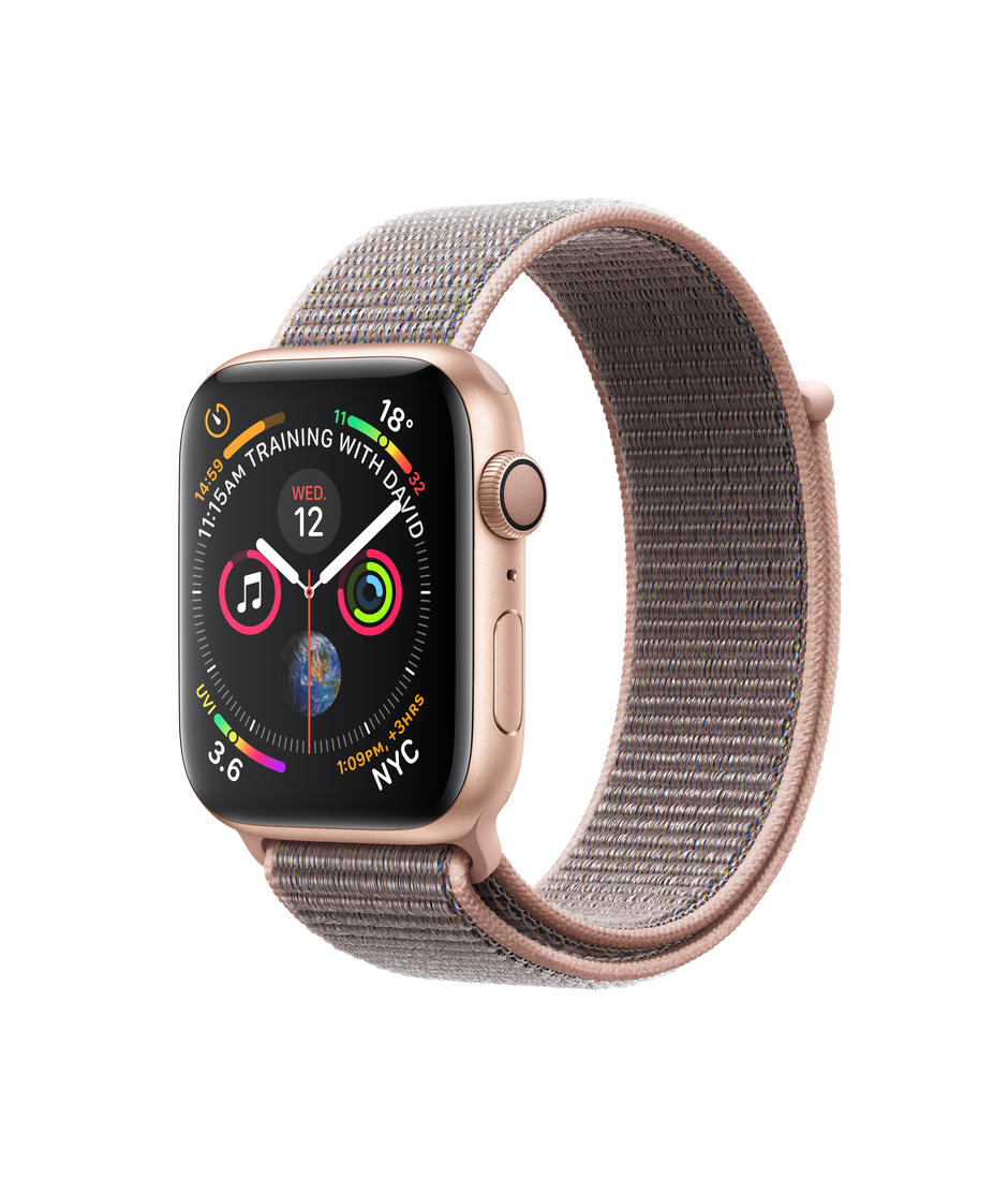 Apple Watch Series 4 Gps 44 Mm Gold Aluminium Case With Pink Sand