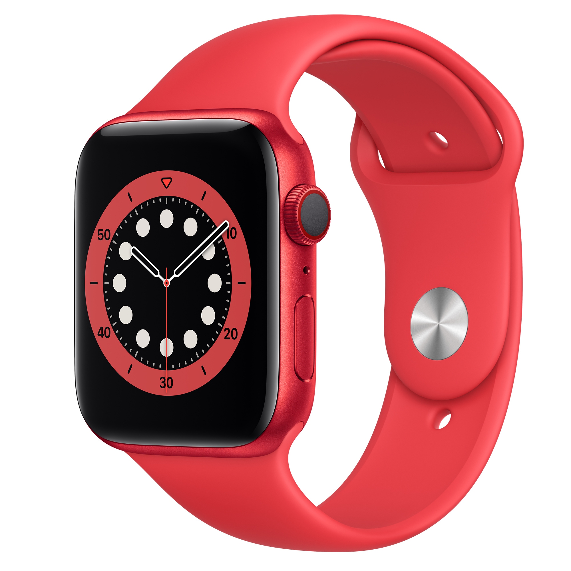 Apple Watch Series 6 (GPS) 40mm RED – Aluminum Case with RED Sport Band $299