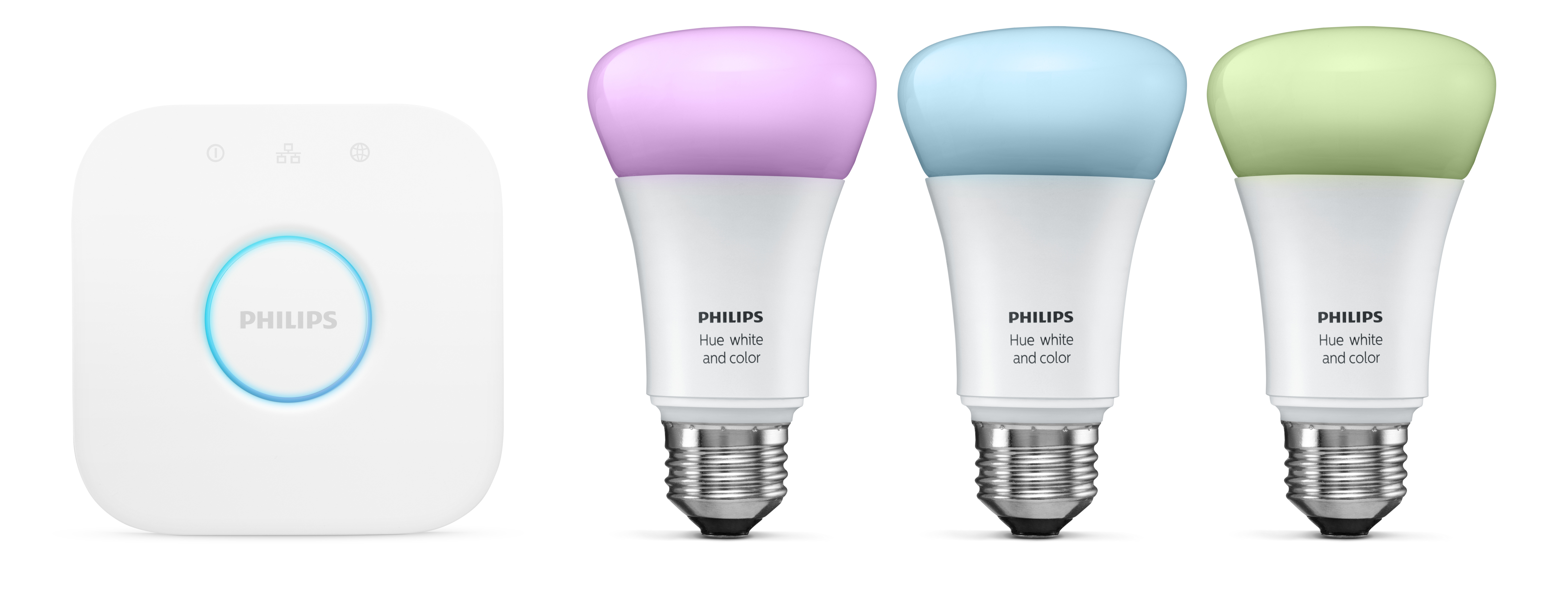 Philips Hue White And Colour Wireless Ambiance Starter Kit A19 E26