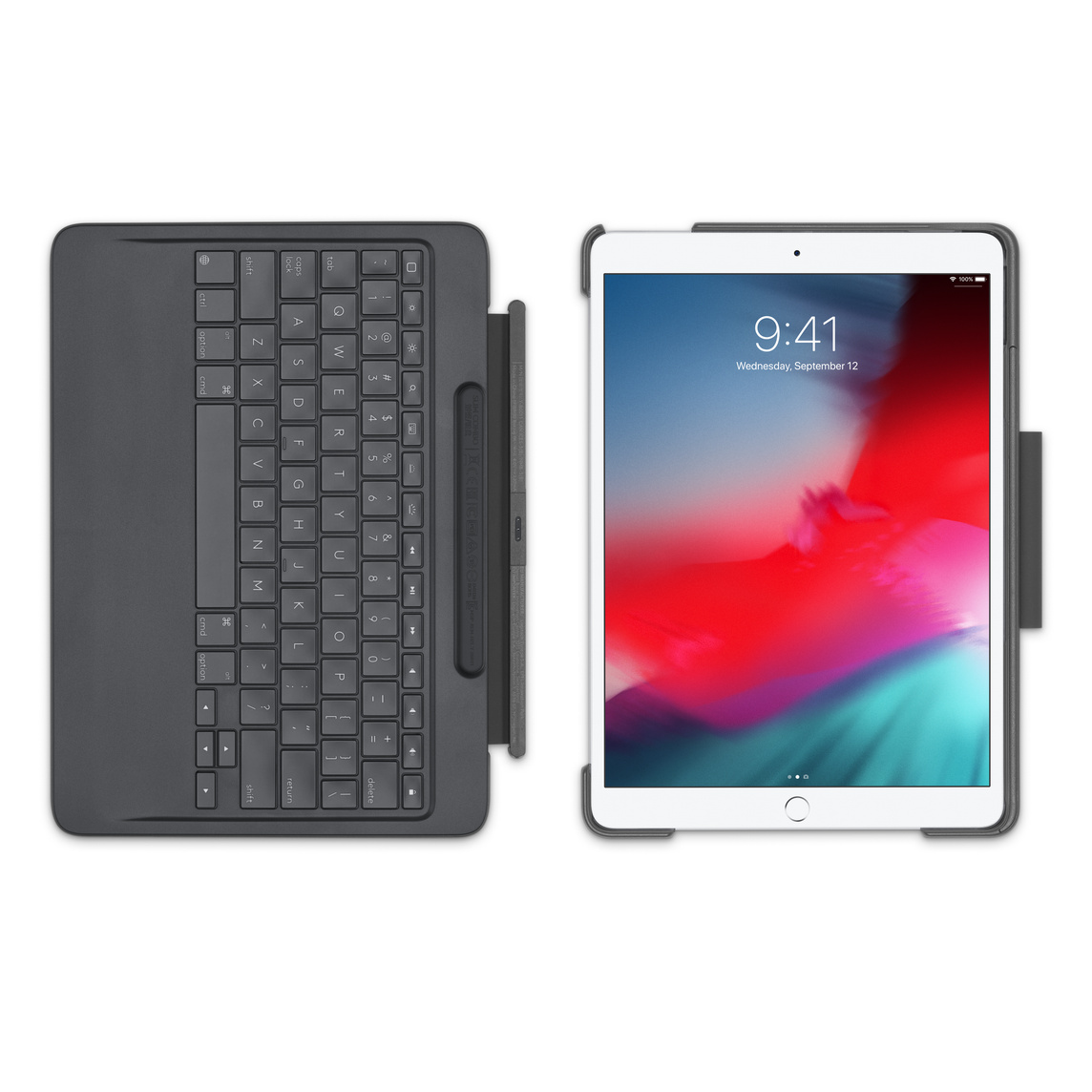 buy popular e3944 8c299 Logitech Slim Combo with detachable keyboard for 10.5-inch iPad Air and  iPad Pro - Black