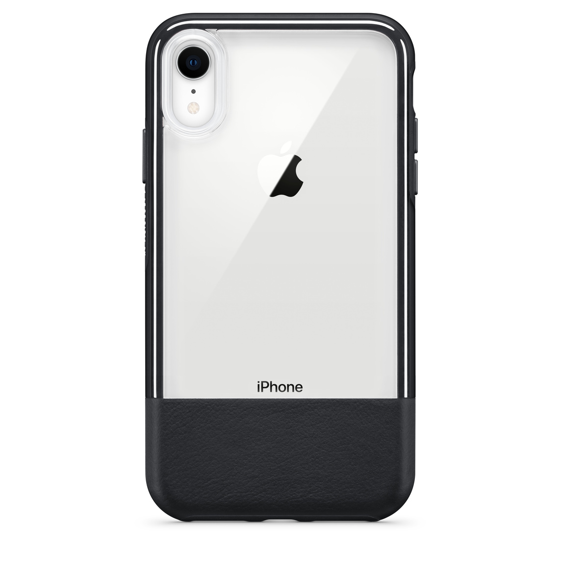 new concept 3863b 7e47f OtterBox Statement Series Case with Leather for iPhone XR - Lucent Black