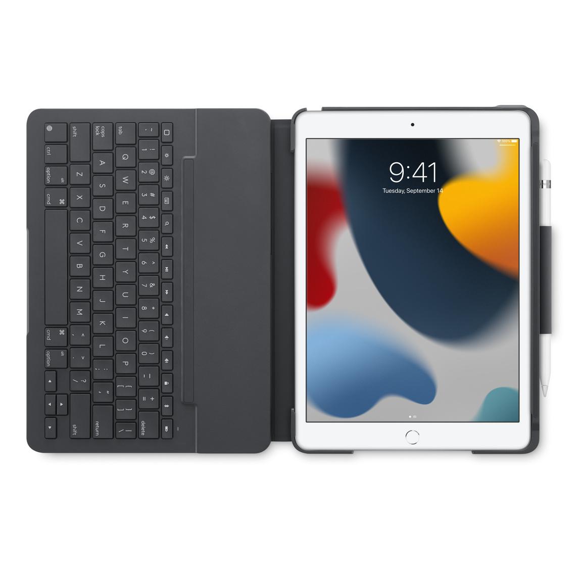 Logitech Slim Folio Case With Integrated Bluetooth Keyboard For Ipad 7th 8th Generation Grey Apple Sg