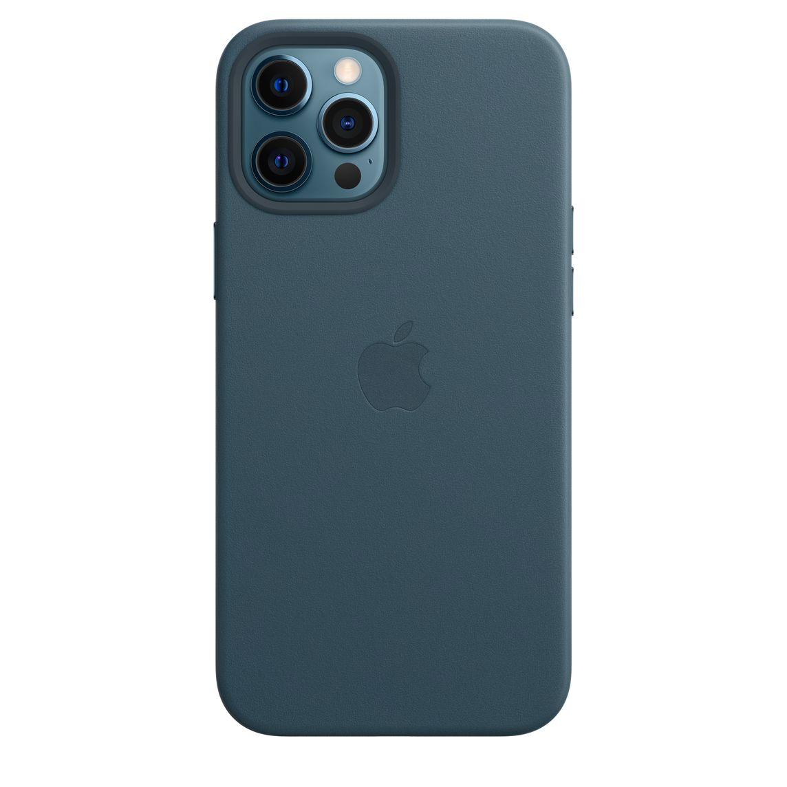 เคสหนังสำหรับ iPhone 12 Pro Max พร้อม MagSafe - สีบอลติกบลู - Apple (TH)