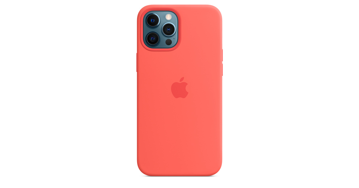 iPhone 12 Pro Max Silicone Case with MagSafe - Pink Citrus ...