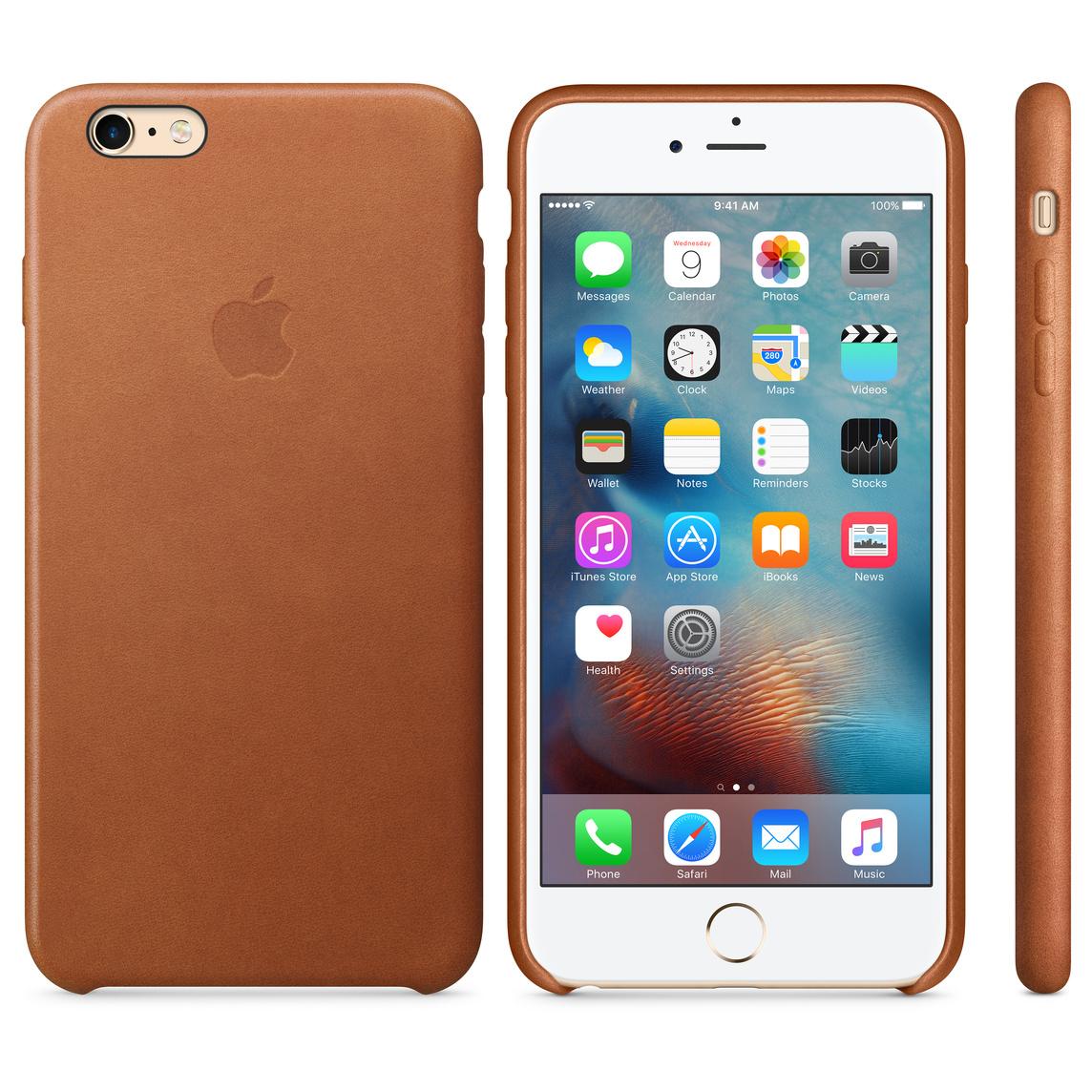 the best attitude db6e7 41395 iPhone 6 Plus / 6s Plus Leather Case - Saddle Brown