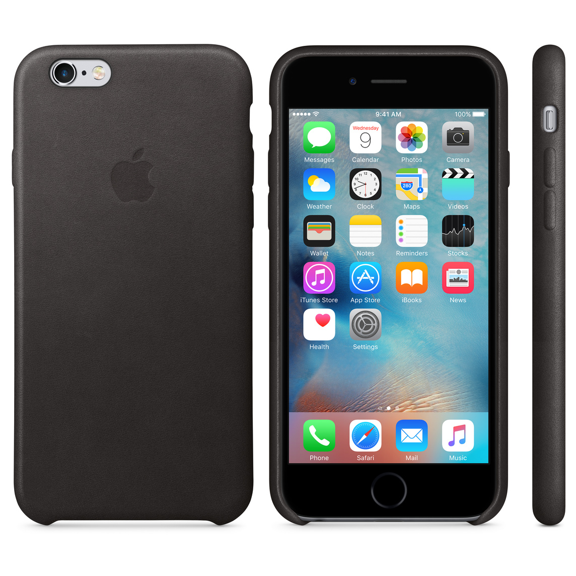 new products 21fac b79de iPhone 6 / 6s Leather Case - Black