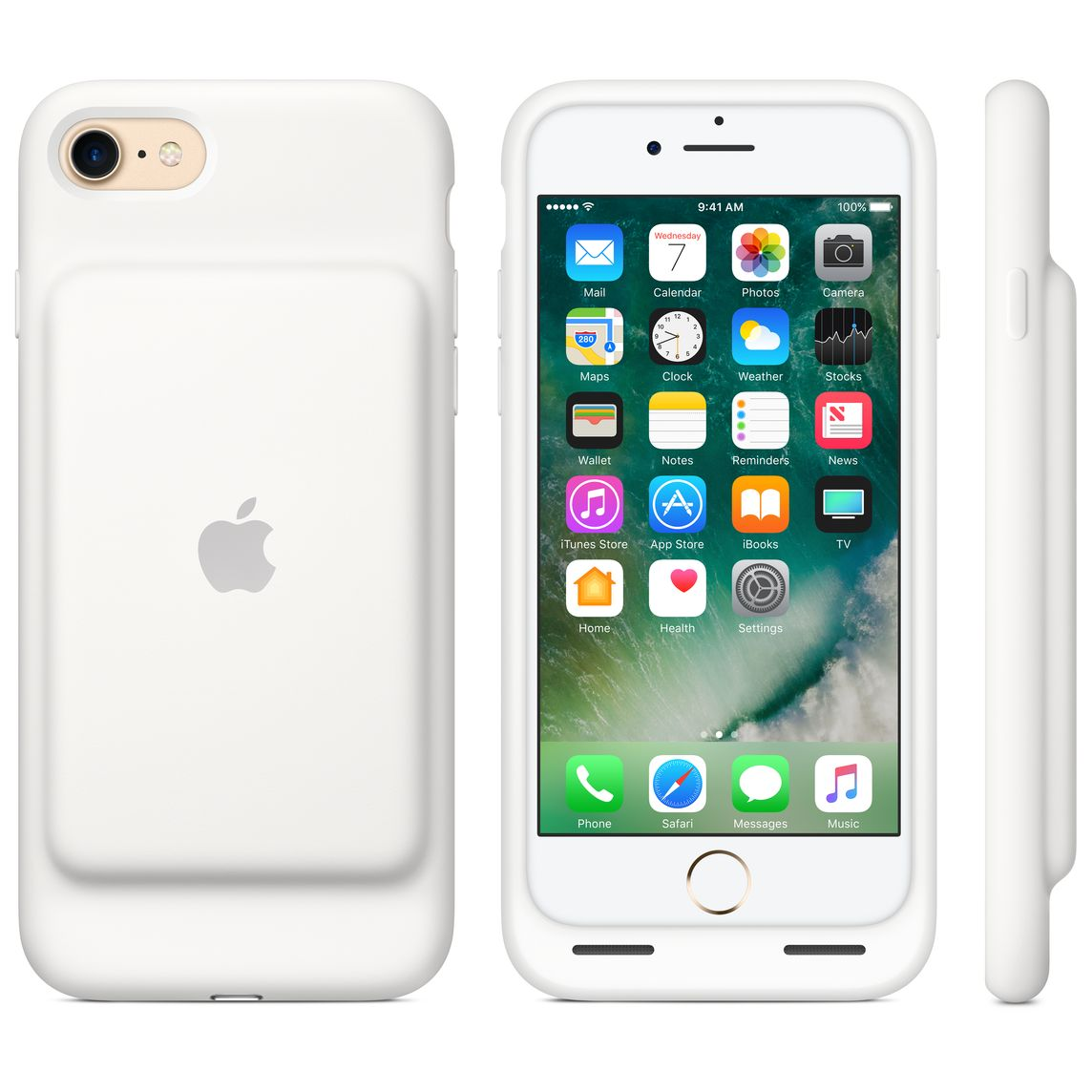 super popular 2d445 157a6 iPhone 7 Smart Battery Case - White