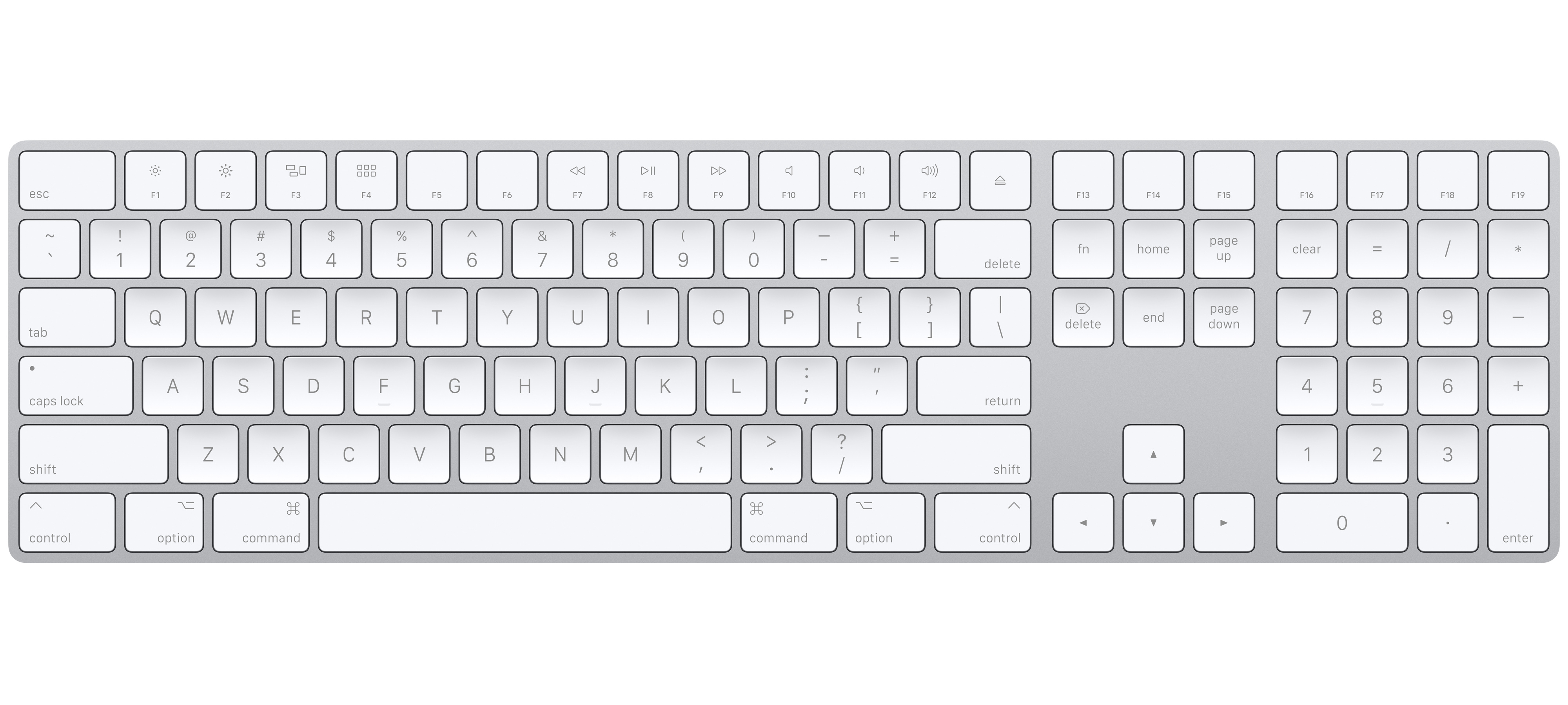 Buy Magic Keyboard With Numeric Keypad For Mac In Silver Apple Sg
