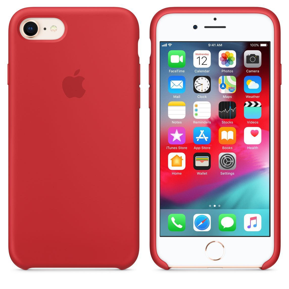 iphone 8 case red silicone