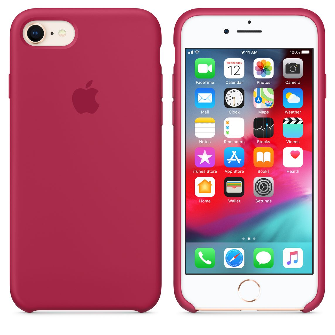huge discount c4388 56c1f iPhone 8 / 7 Silicone Case - Rose Red