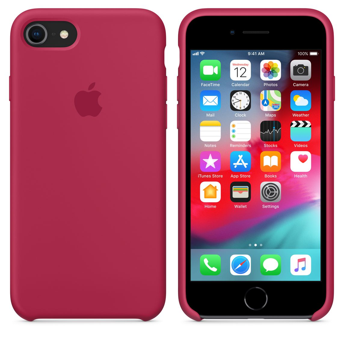 huge discount e3c83 258ef iPhone 8 / 7 Silicone Case - Rose Red