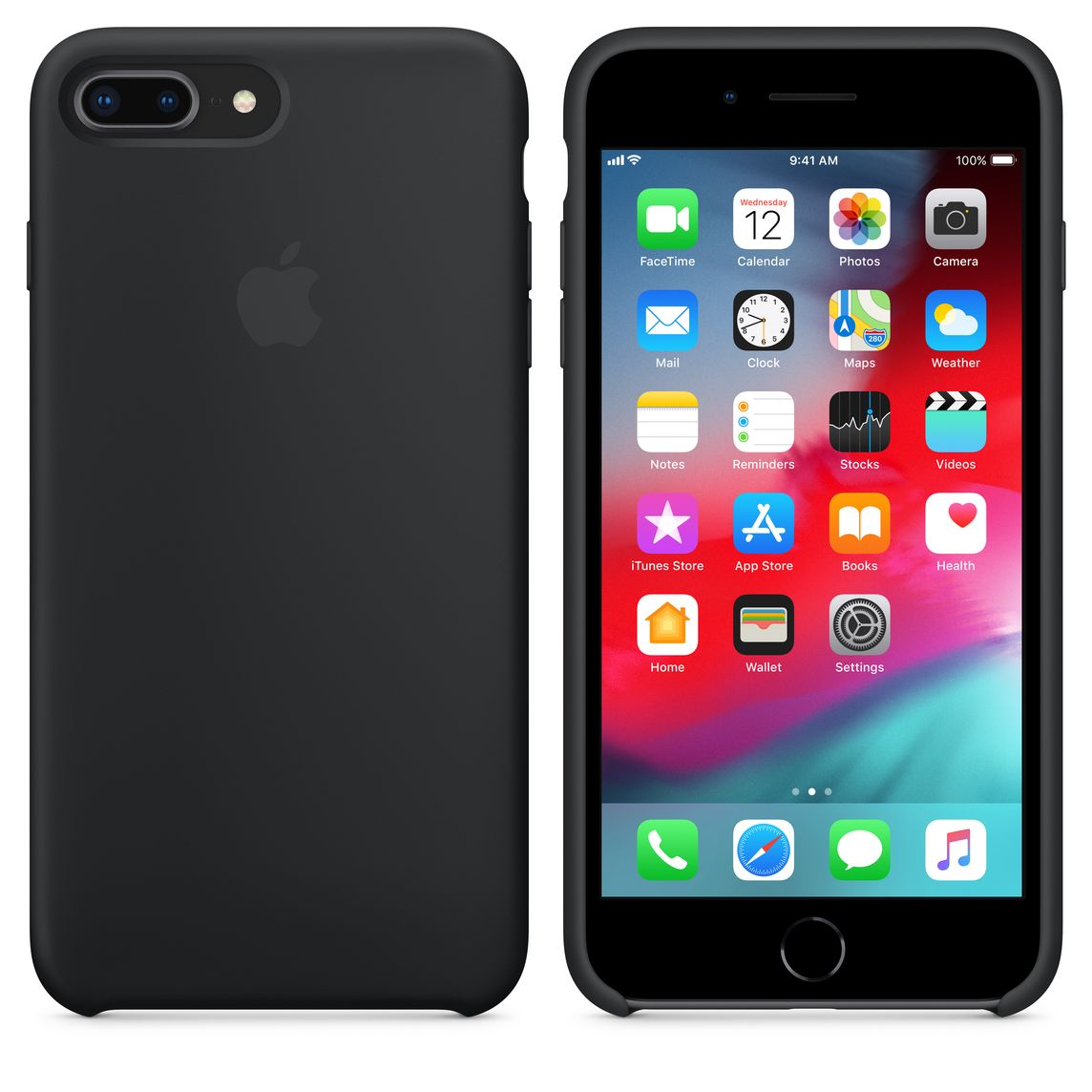 new product 826f7 4aea1 iPhone 8 Plus / 7 Plus Silicone Case - Black