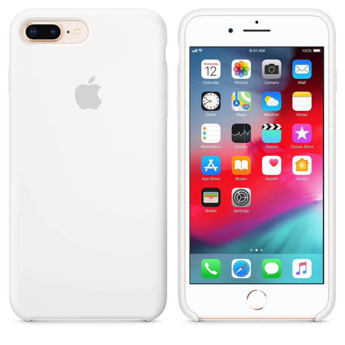 quality design 5c1d0 1769b iPhone 8 Plus / 7 Plus Silicone Case — White