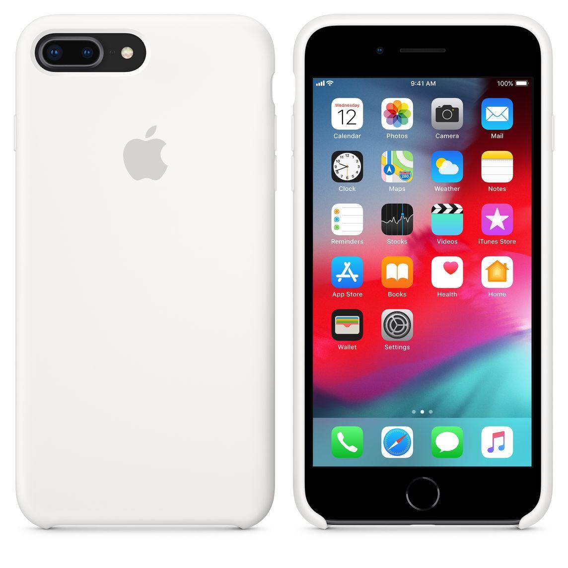 new products 4c6fd 65e09 iPhone 8 Plus / 7 Plus Silicone Case - White