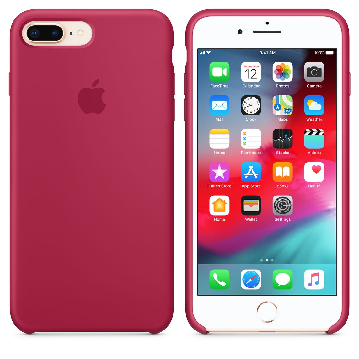 sports shoes 2735e 6d4bd iPhone 8 Plus / 7 Plus Silicone Case - Rose Red