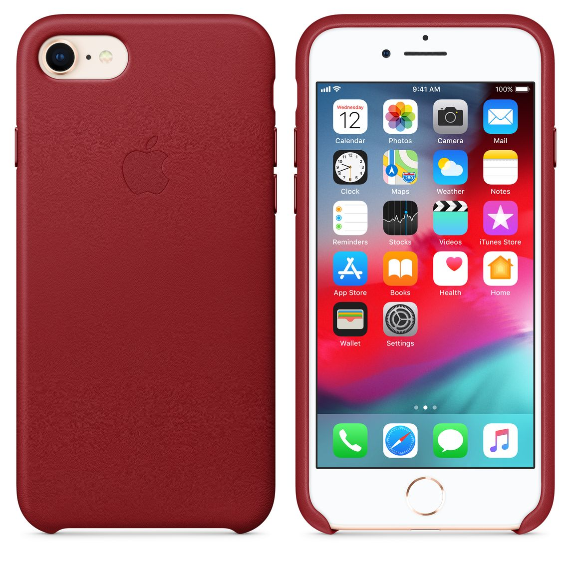 classic fit 67c6d f35e3 iPhone 8 / 7 Leather Case — (PRODUCT)RED