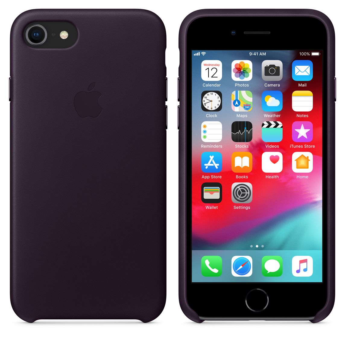 best sneakers e55d1 8c965 iPhone 8 / 7 Leather Case — Dark Aubergine