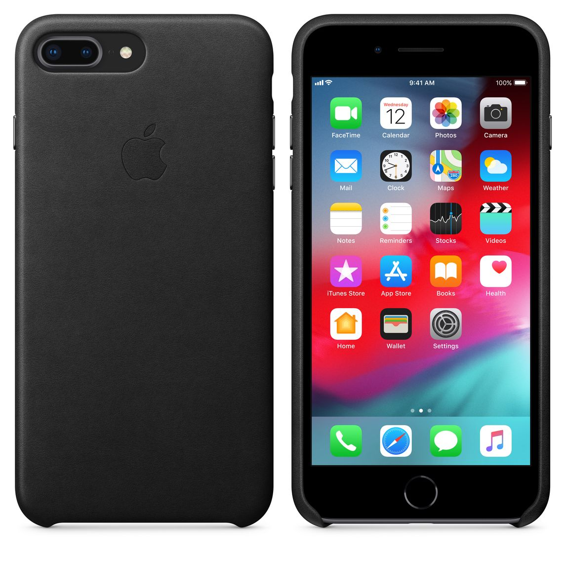 uk availability 9aae2 66bc5 iPhone 8 Plus / 7 Plus Leather Case - Black
