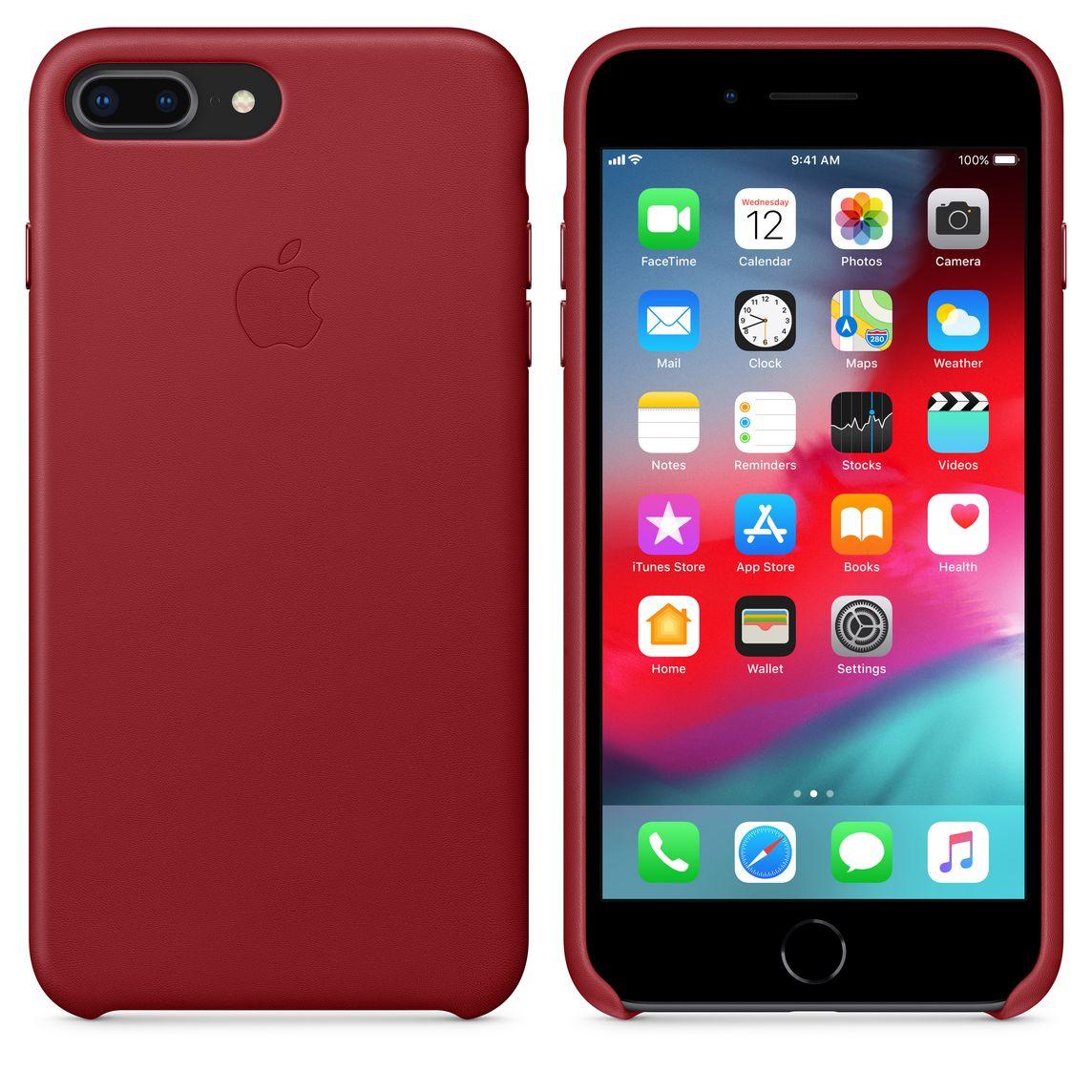 designer fashion 335c4 d37a2 iPhone 8 Plus / 7 Plus Leather Case - (PRODUCT)RED