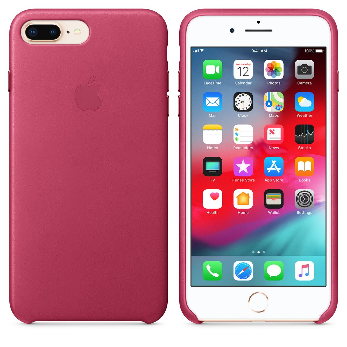 brand new 918f6 04aad iPhone 8 Plus / 7 Plus Leather Case - Pink Fuchsia