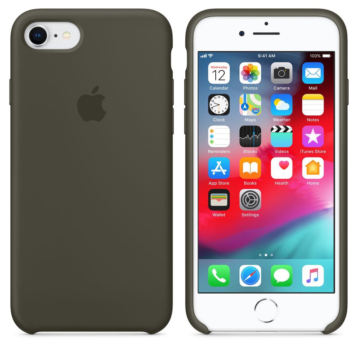 more photos 02b2d 09f96 iPhone 8 / 7 Silicone Case - Dark Olive