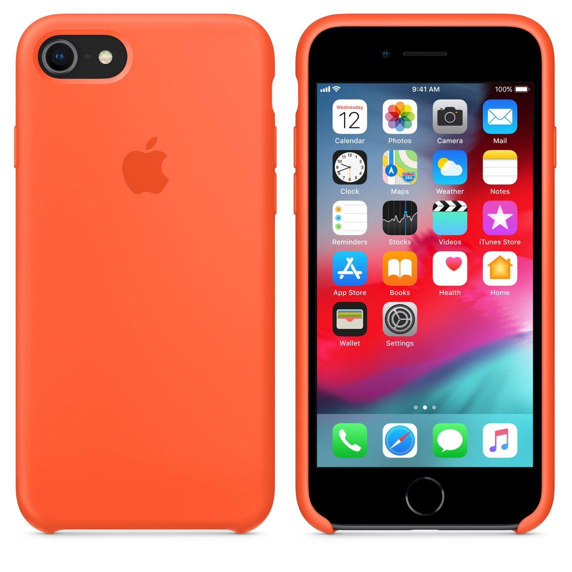 sale retailer d7663 e296f iPhone 8 / 7 Silicone Case — Spicy Orange