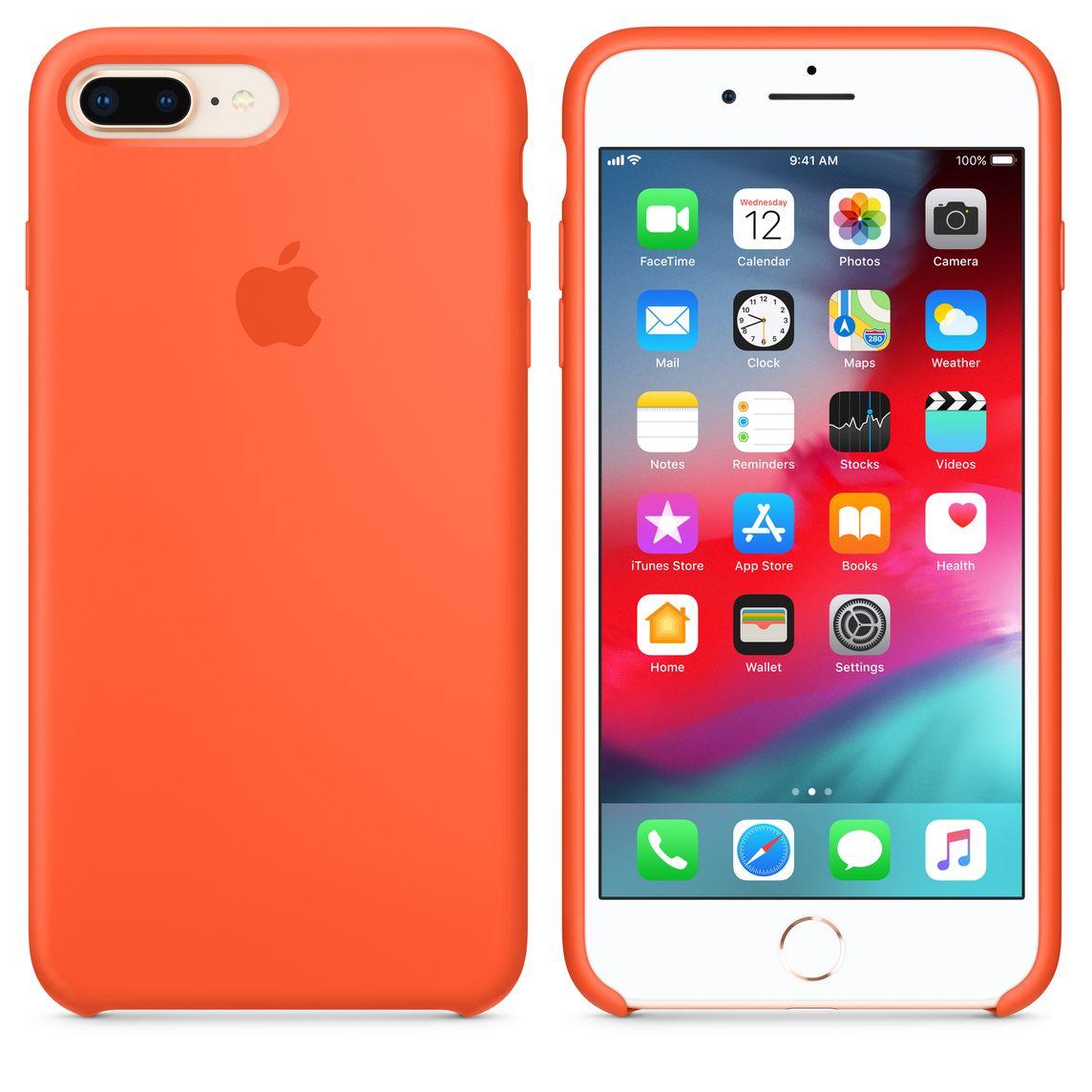 promo code 985eb a2a7c iPhone 8 Plus / 7 Plus Silicone Case - Spicy Orange