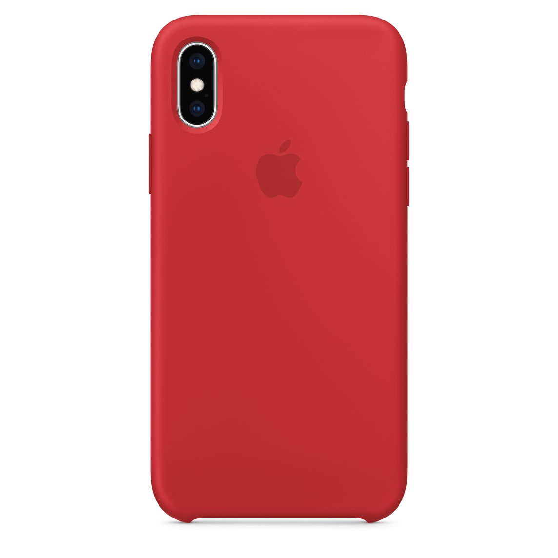 best service 15432 1dc52 iPhone XS Silicone Case — (PRODUCT)RED