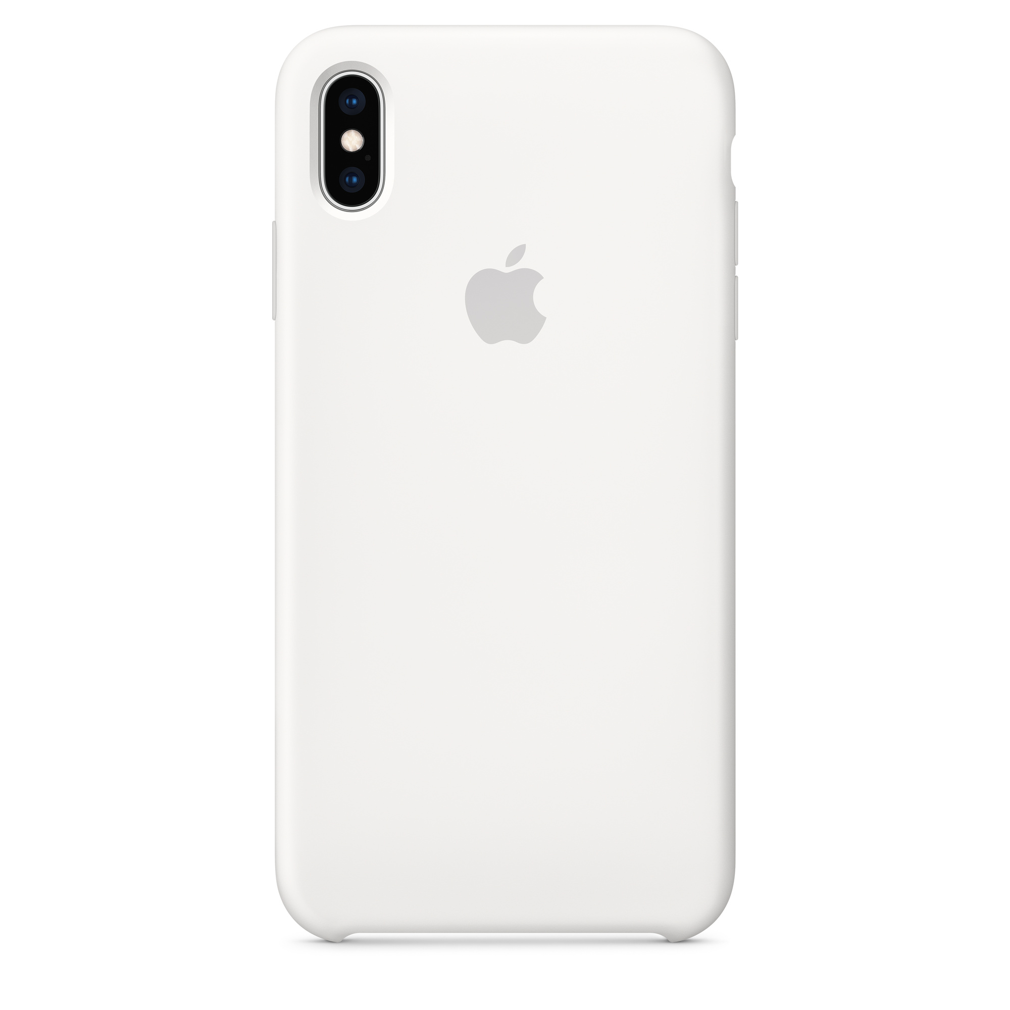 newest 588d5 36f9a iPhone XS Max Silicone Case — White