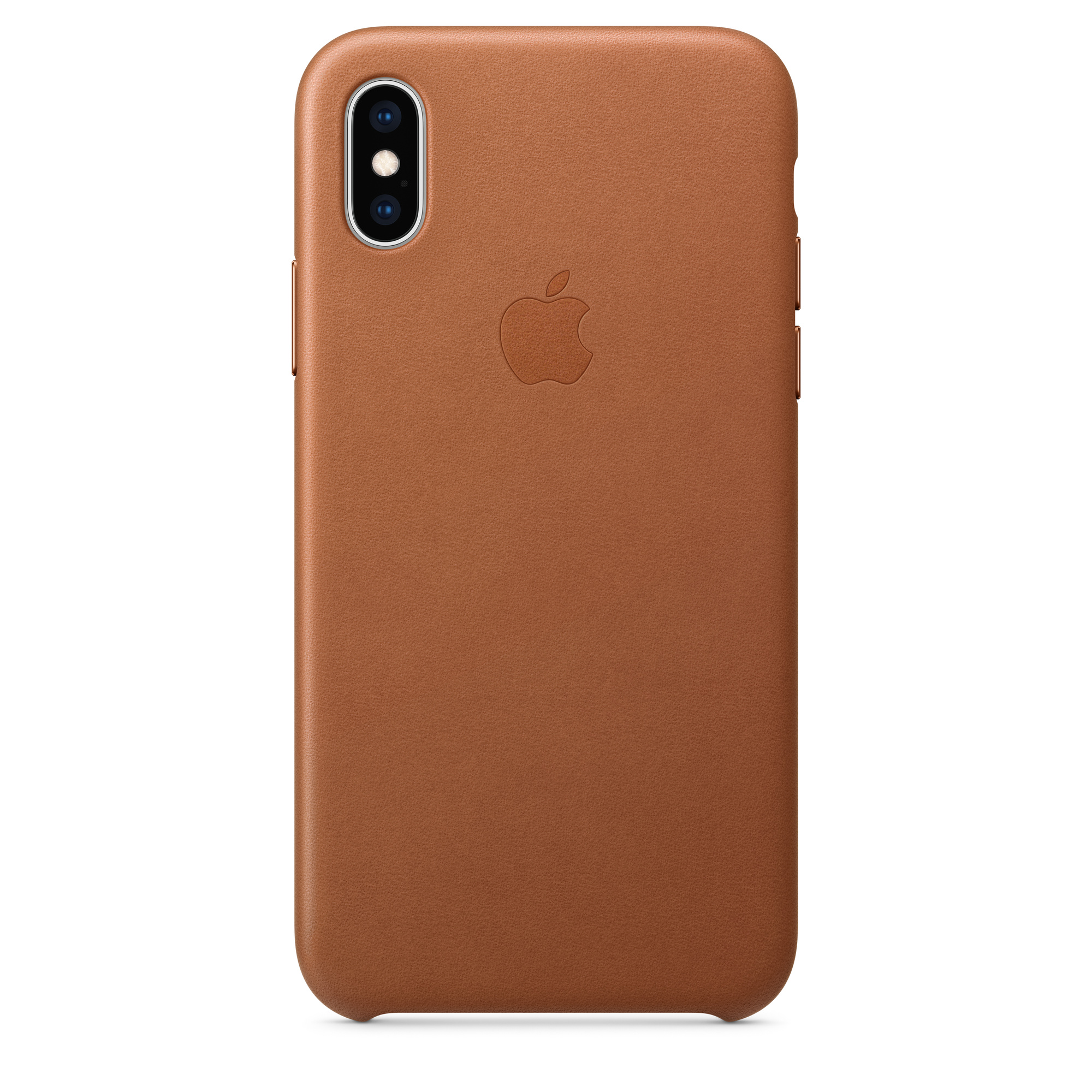 cheap for discount 3adf1 c7db7 iPhone XS Leather Case — Saddle Brown