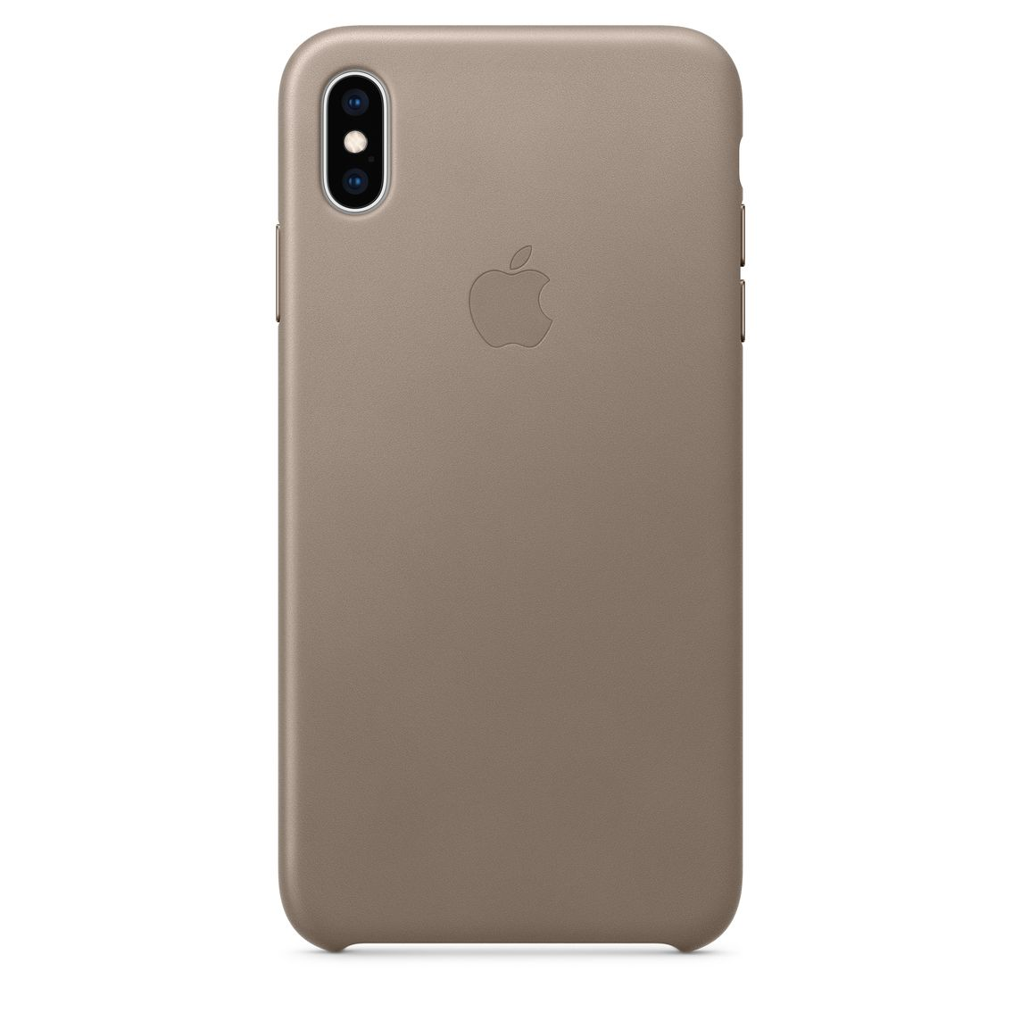 low priced a276e 0730c iPhone XS Max Leather Case — Taupe