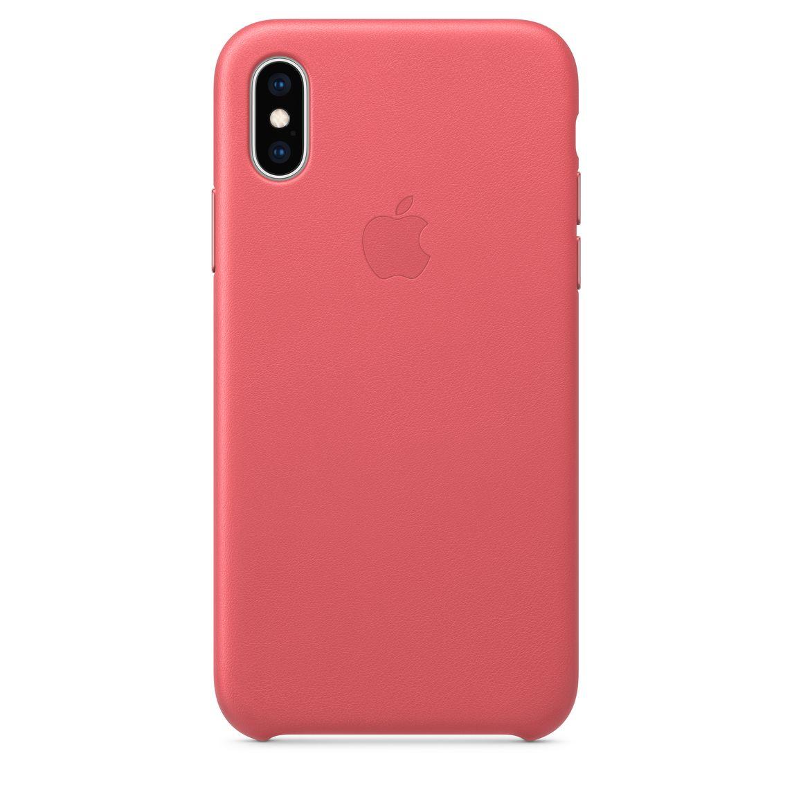 san francisco 587bf edb0c iPhone XS Leather Case — Peony Pink