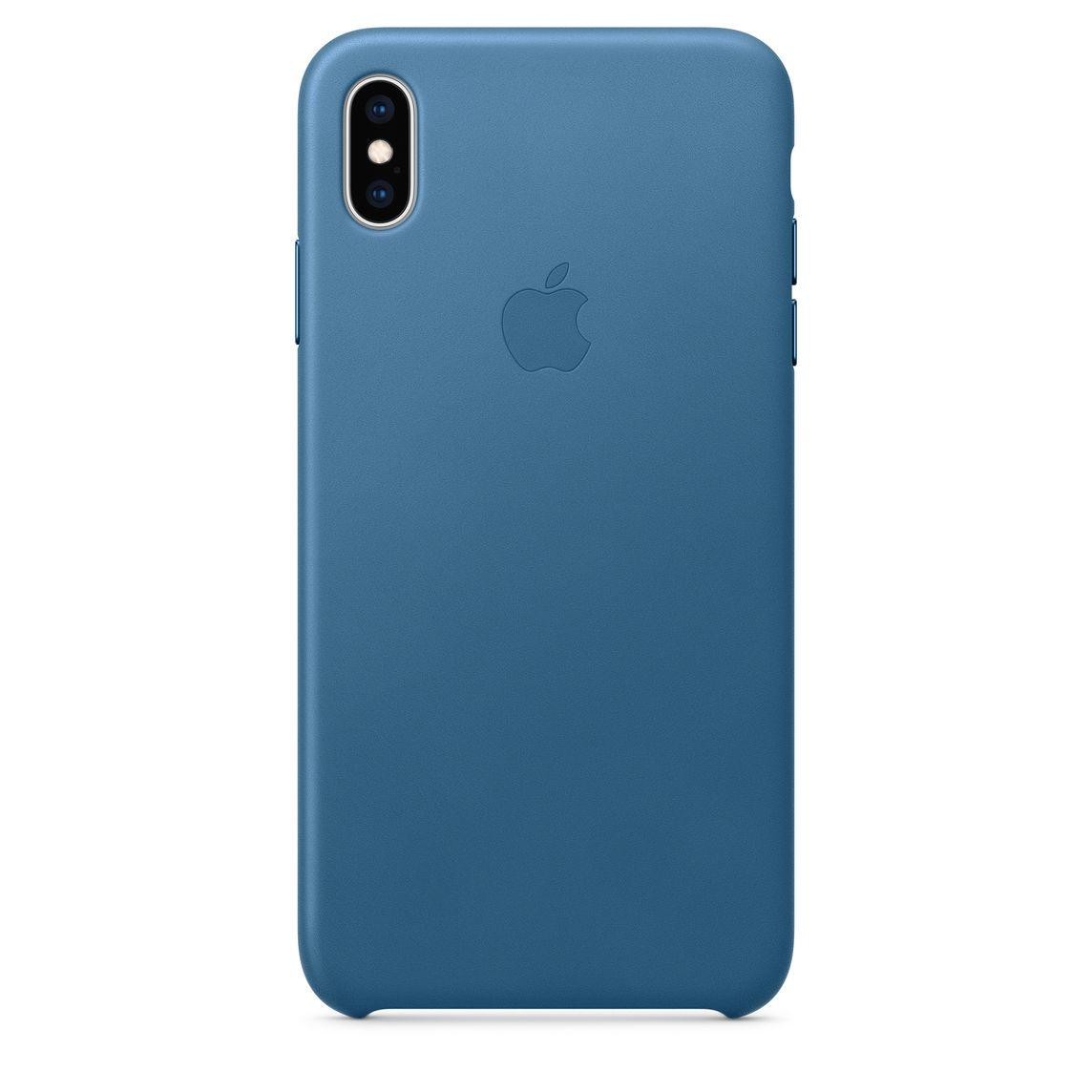 online retailer da443 31aa9 iPhone XS Max Leather Case - Cape Cod Blue