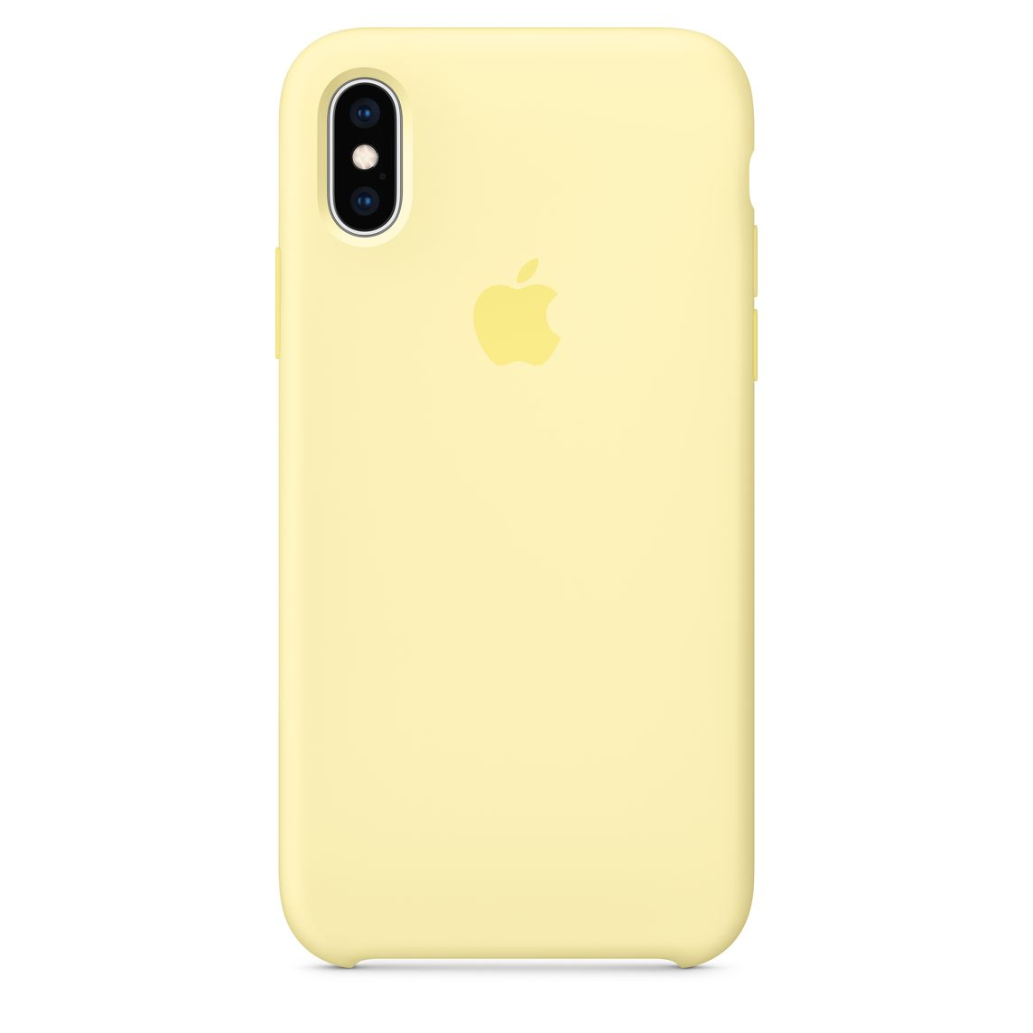 new concept f6eb4 382ed iPhone XS Silicone Case — Mellow Yellow