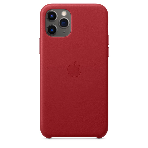 iPhone 11 Pro 皮革保護殼 - (PRODUCT)RED™‎ Apple